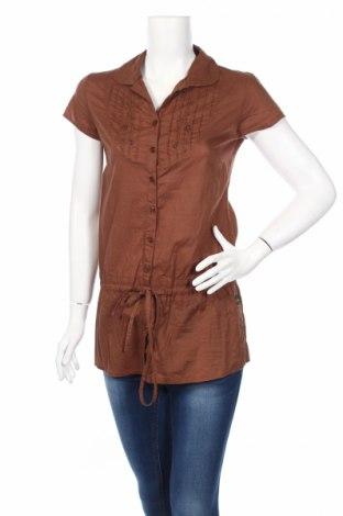 Γυναικείο πουκάμισο Kamiseta, Μέγεθος XS, Χρώμα Καφέ, Βαμβάκι, Τιμή 3,67€