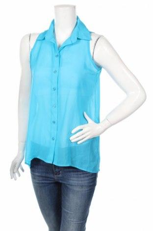 Дамска риза No Boundaries, Размер M, Цвят Син, Полиестер, Цена 4,50лв.