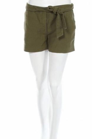 Pantaloni scurți de femei Ba&sh, Mărime M, Culoare Verde, 50% bumbac, 48% in, 2% elastan, Preț 72,59 Lei