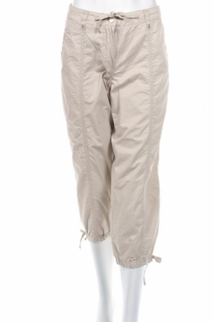 Дамски панталон Carla F., Размер M, Цвят Бежов, Памук, Цена 7,77лв.