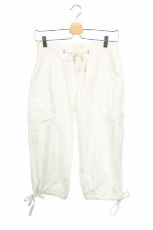 Дамски панталон H&M L.o.g.g, Размер XS, Цвят Бял, Памук, Цена 5,50лв.
