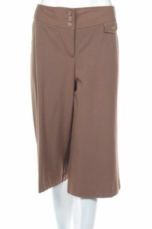 Дамски панталон Loft By Ann Taylor, Размер L, Цвят Кафяв, 61% полиестер, 33% вискоза, 6% еластан, Цена 16,15лв.