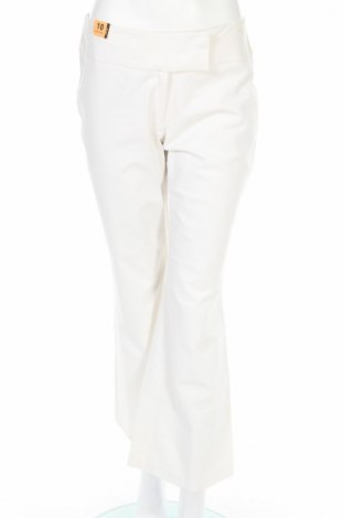 Дамски панталон New Look, Размер M, Цвят Бял, 54% лен, 43% вискоза, 3% еластан, Цена 8,01лв.