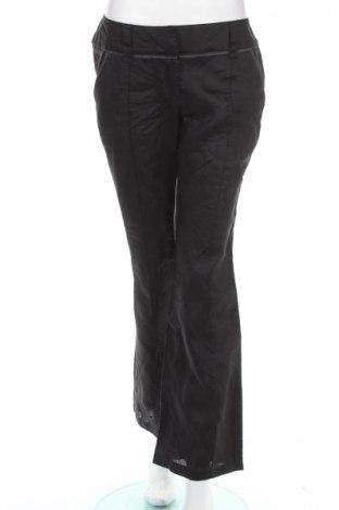 Дамски панталон Promod, Размер S, Цвят Черен, 50% рамия, 50% лен, Цена 6,20лв.