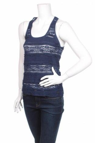 Γυναικείο αμάνικο μπλουζάκι America Today, Μέγεθος M, Χρώμα Μπλέ, 50% βαμβάκι, 45% πολυαμίδη, 5% ελαστάνη, Τιμή 3,49€