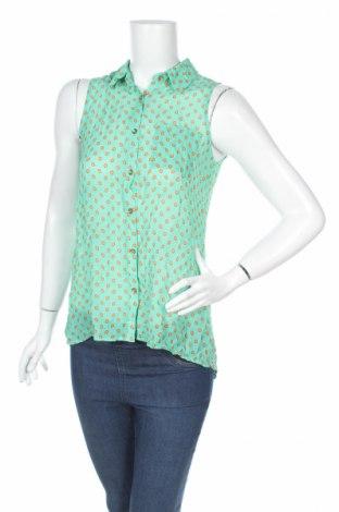 Дамска риза Monteau, Размер S, Цвят Зелен, 100% полиестер, Цена 4,60лв.
