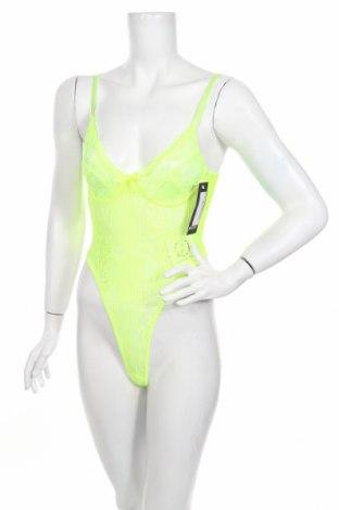 Bodysuit Nasty Gal, Μέγεθος S, Χρώμα Πράσινο, 95% πολυεστέρας, 5% ελαστάνη, Τιμή 13,36€