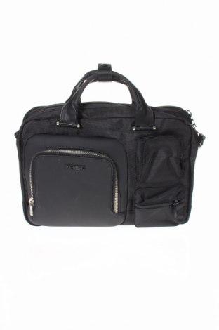 Τσάντα χαρτοφύλακας Bikkembergs, Χρώμα Μαύρο, Κλωστοϋφαντουργικά προϊόντα, δερματίνη, Τιμή 66,34€
