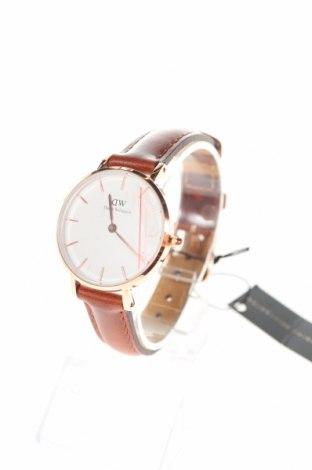 Ρολόι Daniel Wellington, Χρώμα Καφέ, Γνήσιο δέρμα, μέταλλο, Τιμή 123,64€