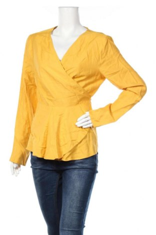 Γυναικεία μπλούζα ASOS, Μέγεθος XL, Χρώμα Κίτρινο, 86% βισκόζη, 14% λινό, Τιμή 30,56€