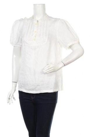 Дамска блуза Michael Kors, Размер L, Цвят Бял, Лен, Цена 31,66лв.