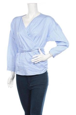 Дамска блуза Reserved, Размер L, Цвят Син, 53% полиестер, 47% памук, Цена 30,24лв.