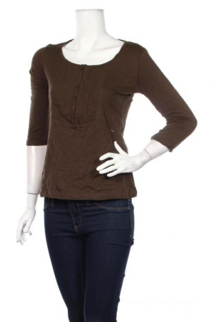 Дамска блуза Reserved, Размер S, Цвят Зелен, 100% памук, Цена 3,36лв.