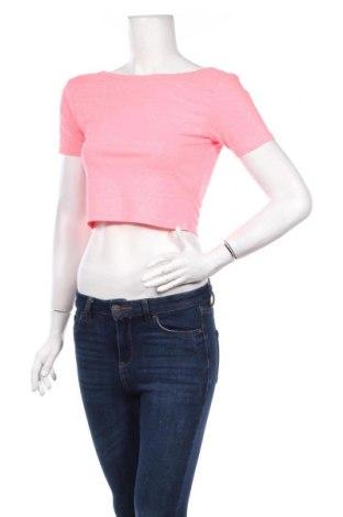 Дамска блуза Sinsay, Размер L, Цвят Розов, 95% полиестер, 5% еластан, Цена 4,80лв.
