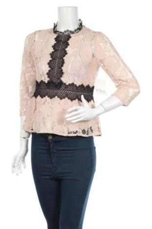 Γυναικεία μπλούζα Zara, Μέγεθος M, Χρώμα  Μπέζ, Πολυεστέρας, Τιμή 28,65€