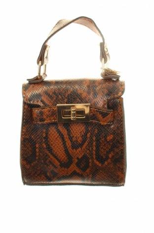 Γυναικεία τσάντα, Χρώμα Καφέ, Δερματίνη, Τιμή 19,63€