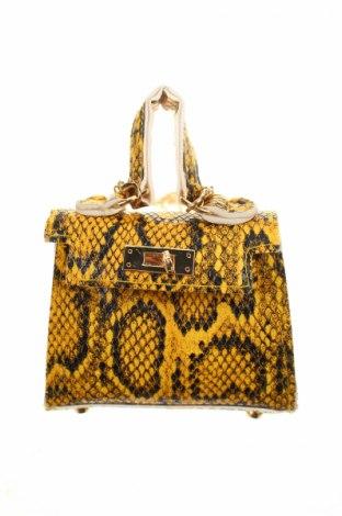 Γυναικεία τσάντα, Χρώμα Κίτρινο, Δερματίνη, Τιμή 17,18€
