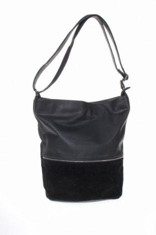 Geantă de femei Reserved, Culoare Negru, Piele ecologică, textil, Preț 92,84 Lei