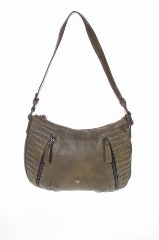 Дамска чанта Tom Tailor, Цвят Зелен, Еко кожа, Цена 47,25лв.