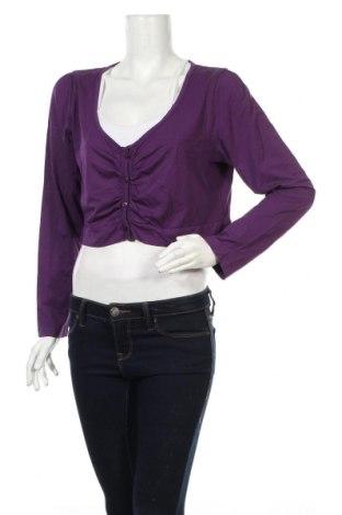 Cardigan de damă Miss Etam, Mărime XL, Culoare Mov, 5% viscoză, 5% elastan, Preț 77,99 Lei