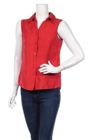 Дамска риза Essentiel, Размер M, Цвят Червен, 55% лен, 45% вискоза, Цена 21,15лв.