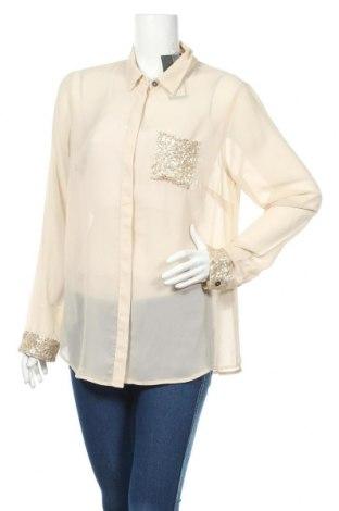 Γυναικείο πουκάμισο Street One, Μέγεθος L, Χρώμα  Μπέζ, Πολυεστέρας, Τιμή 26,73€
