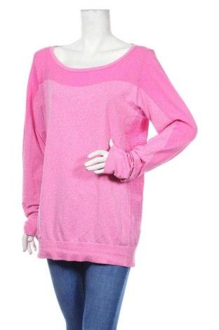 Дамска спортна блуза Active By Tchibo, Размер L, Цвят Розов, 52% полиестер, 48% полиамид, Цена 23,67лв.