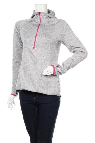 Дамска спортна блуза Active By Tchibo, Размер S, Цвят Сив, 92% полиестер, 8% еластан, Цена 16,46лв.