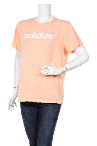 Γυναικείο t-shirt Adidas, Μέγεθος L, Χρώμα Ρόζ , 100% βαμβάκι, Τιμή 23,01€