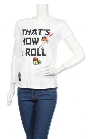 Γυναικείο t-shirt Cropp, Μέγεθος XS, Χρώμα Λευκό, Βαμβάκι, Τιμή 11,87€