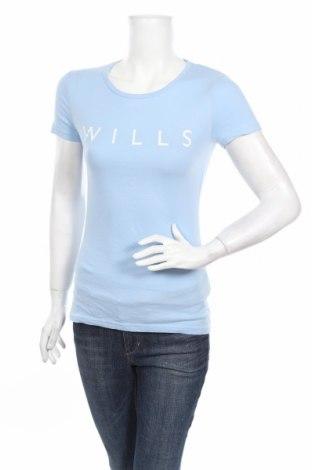 Γυναικείο t-shirt Jack Wills, Μέγεθος XS, Χρώμα Μπλέ, Βαμβάκι, Τιμή 16,70€