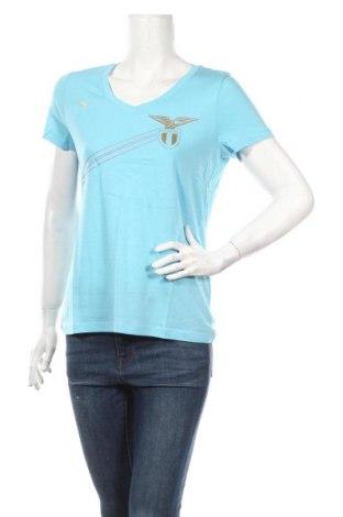 Γυναικείο t-shirt PUMA, Μέγεθος M, Χρώμα Μπλέ, 60% βαμβάκι, 40% μοντάλ, Τιμή 18,19€