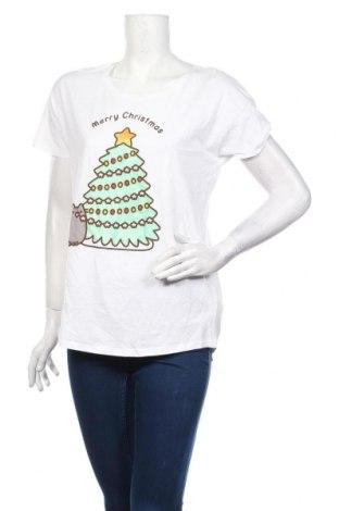 Γυναικείο t-shirt Reserved, Μέγεθος L, Χρώμα Λευκό, Βαμβάκι, Τιμή 8,91€