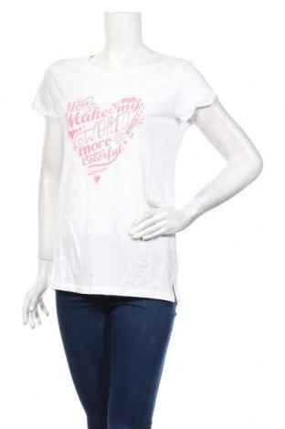 Γυναικείο t-shirt Sinsay, Μέγεθος L, Χρώμα Λευκό, Βαμβάκι, Τιμή 10,02€