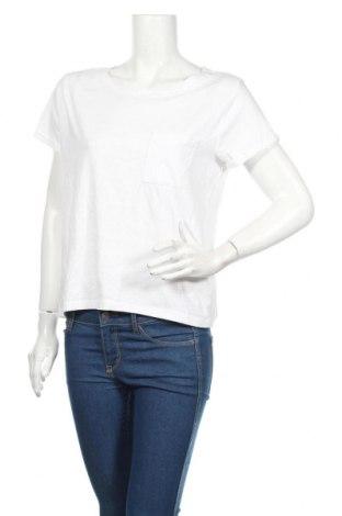 Tricou de femei Sinsay, Mărime L, Culoare Alb, 90% bumbac, 10% viscoză, Preț 49,26 Lei