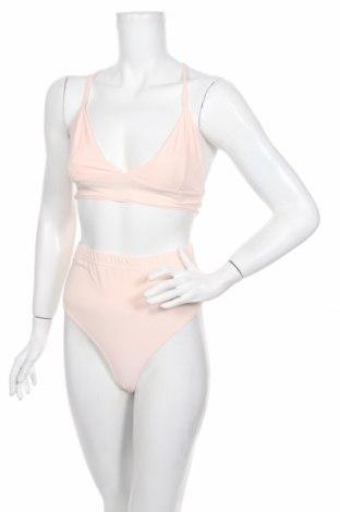 Damski strój kąpielowy Boohoo, Rozmiar XS, Kolor Różowy, 95% poliester, 5% elastyna, Cena 35,15zł