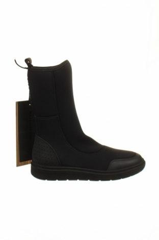 Дамски боти Alexander Wang For H&M, Размер 36, Цвят Черен, Текстил, естествена кожа, Цена 85,68лв.