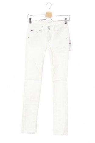 Дамски дънки Hudson, Размер XS, Цвят Бял, 92% памук, 6% полиестер, 2% еластан, Цена 23,60лв.