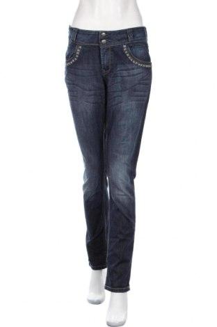 Dámske džínsy  Lindex, Veľkosť L, Farba Modrá, 98% bavlna, 2% elastan, Cena  12,22€