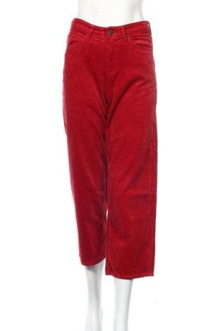 Γυναικείο κοτλέ παντελόνι Lee, Μέγεθος XS, Χρώμα Κόκκινο, Βαμβάκι, Τιμή 25,61€