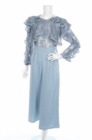Dámsky overal Boohoo, Veľkosť M, Farba Modrá, 60% bavlna, 40% polyamide, Cena  24,74€
