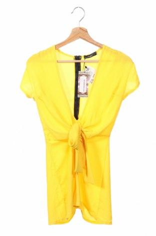 Дамски гащеризон Boohoo, Размер XS, Цвят Жълт, 97% полиестер, 3% еластан, Цена 29,25лв.