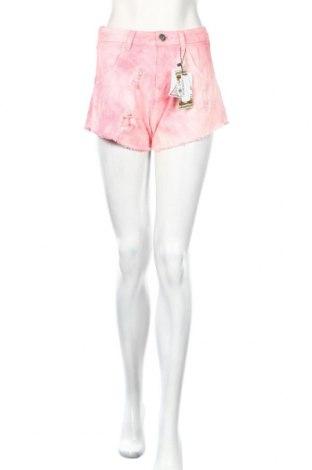 Γυναικείο κοντό παντελόνι Boohoo, Μέγεθος S, Χρώμα Ρόζ , Βαμβάκι, Τιμή 13,36€