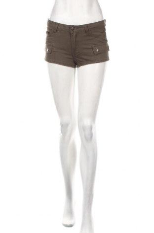 Γυναικείο κοντό παντελόνι Cropp, Μέγεθος XS, Χρώμα Καφέ, 98% βαμβάκι, 2% ελαστάνη, Τιμή 6,87€