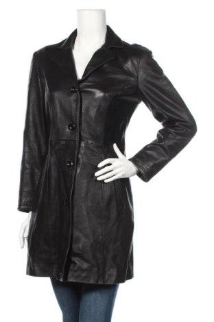 Γυναικεία δερμάτινη καμπαρντίνα Target, Μέγεθος XS, Χρώμα Μαύρο, Γνήσιο δέρμα, Τιμή 50,28€