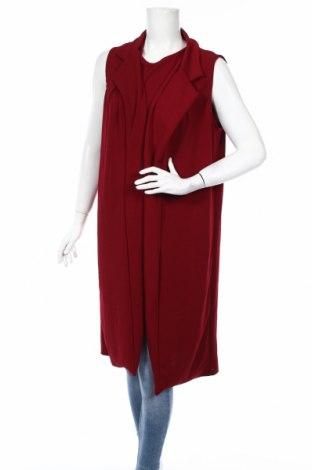 Дамски комплект Boohoo, Размер M, Цвят Червен, 95% полиестер, 5% еластан, Цена 29,40лв.