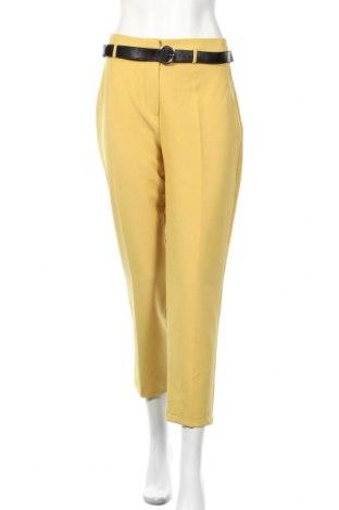 Γυναικείο παντελόνι, Μέγεθος XL, Χρώμα Κίτρινο, 95% πολυεστέρας, 5% ελαστάνη, Τιμή 21,64€