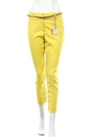 Γυναικείο παντελόνι Reserved, Μέγεθος M, Χρώμα Κίτρινο, 50% βαμβάκι, 46% πολυαμίδη, 4% ελαστάνη, Τιμή 20,79€