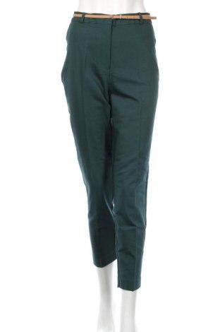 Γυναικείο παντελόνι Reserved, Μέγεθος L, Χρώμα Πράσινο, 55% βαμβάκι, 42% πολυεστέρας, 3% ελαστάνη, Τιμή 20,79€