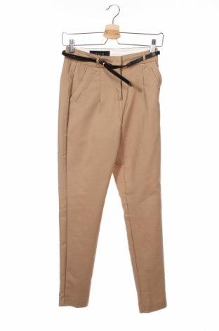 Γυναικείο παντελόνι Reserved, Μέγεθος XS, Χρώμα  Μπέζ, 50% βαμβάκι, 46% πολυαμίδη, 4% ελαστάνη, Τιμή 19,30€